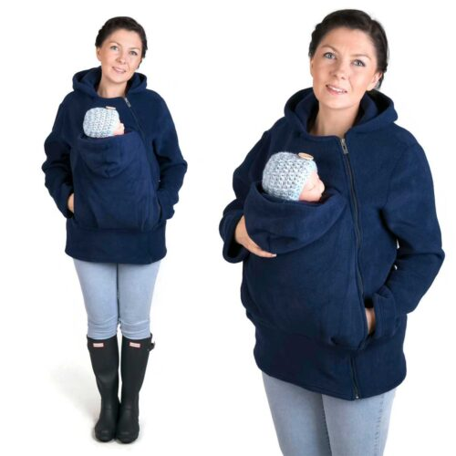 Fun2bemum babywearing fleece jacket navy