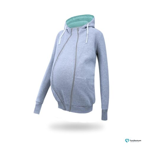 Fun2bemum babywearing maternity sweatshirt Sofia bluza ciazowa do noszenia (1) - szara
