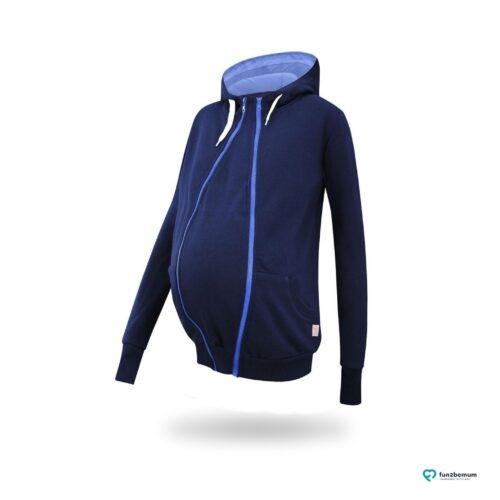 Fun2bemum babywearing maternity sweatshirt Sofia bluza ciazowa do noszenia (2) - granat