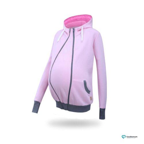 Fun2bemum babywearing maternity sweatshirt Sofia bluza ciazowa do noszenia (4) - rozowa