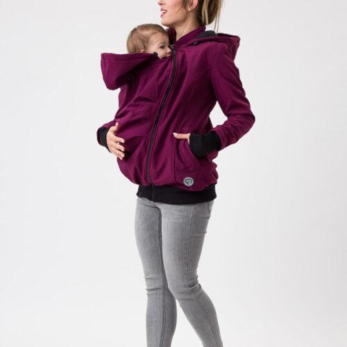 Fun2bemum babywearing softshell jacket everest maternity plum kurtka ciazowa do noszenia dzieci sliwka 1