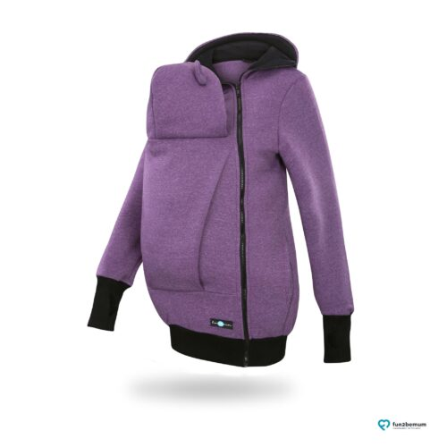 Fun2bemum babywearing sweatshirt jacket Maya bluza do noszenia-1 purple