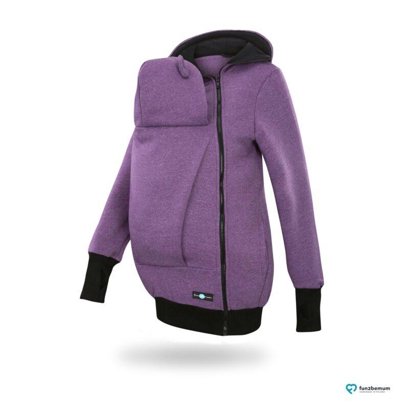 Fun2bemum babywearing sweatshirt jacket Maya bluza do noszenia-1 purple