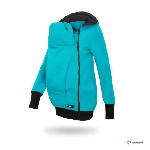 Fun2bemum babywearing sweatshirt jacket Maya bluza do noszenia-2 turquoise