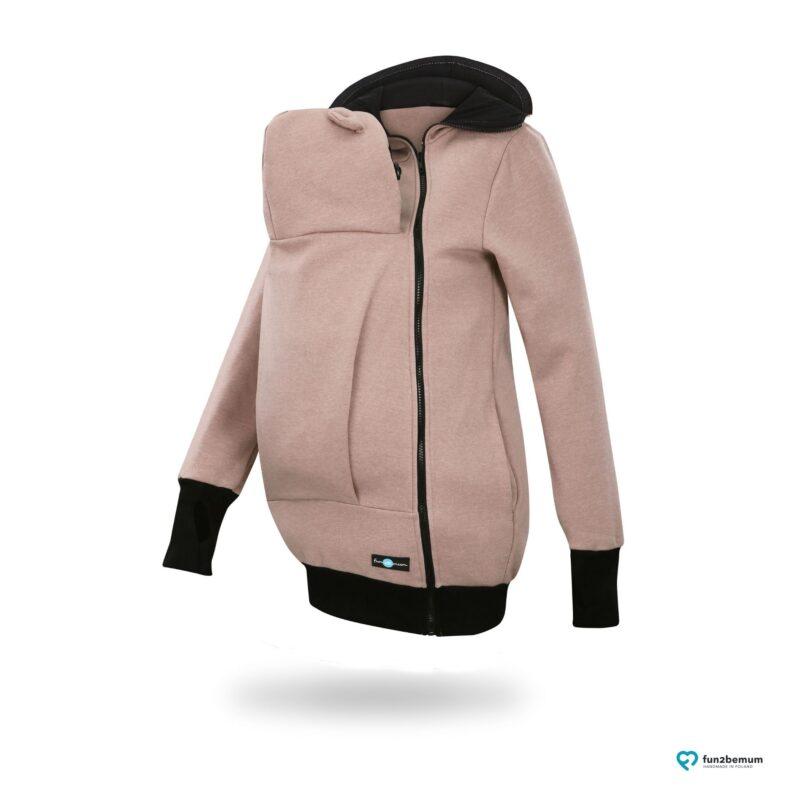 Fun2bemum babywearing sweatshirt jacket Maya bluza do noszenia-4 light brown