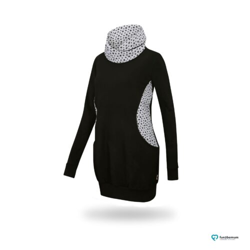 Fun2bemum maternity nursing sweatshirt Lily ciazowa bluza do karmienia 4 czarny black