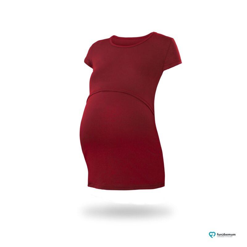 Fun2bemum maternity nursing top Chloe ciazowa bluzka do karmienia (1) - burgund
