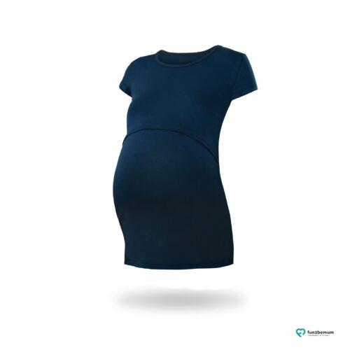 Fun2bemum maternity nursing top Chloe ciazowa bluzka do karmienia (4) - granatowa
