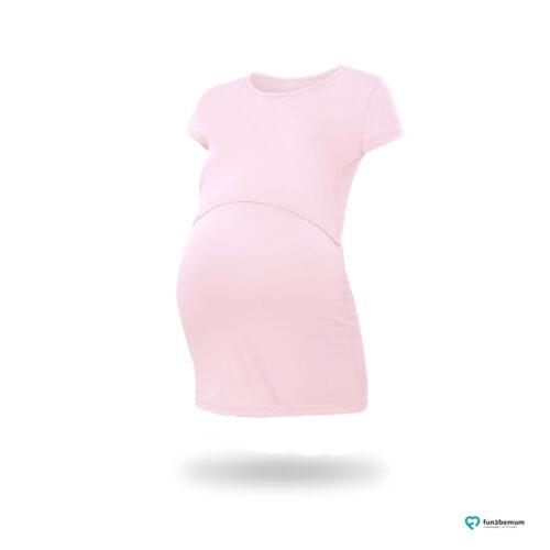 Fun2bemum maternity nursing top Chloe ciazowa bluzka do karmienia (8) - pudrowy roz-
