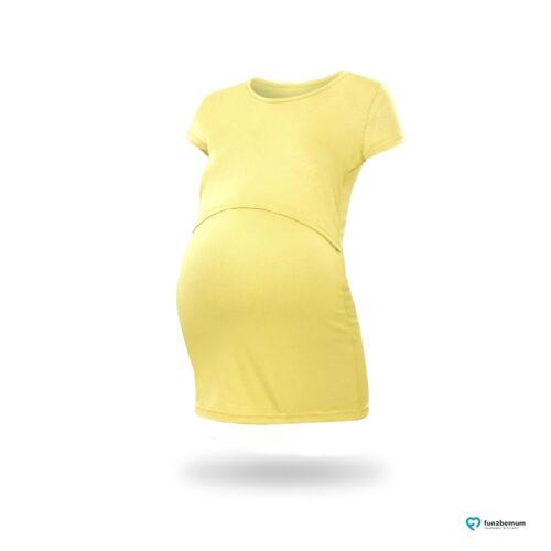 Fun2bemum maternity nursing top Chloe ciazowa bluzka do karmienia (9) - zolty