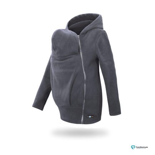Fun2bemum babywearing fleece jacket Basic bluza do noszenia-3 graphite