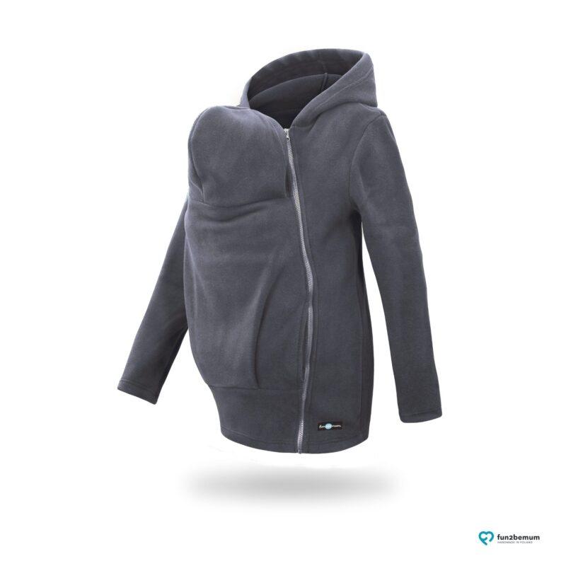 Fun2bemum babywearing fleece jacket Basic bluza do noszenia-3 graphite