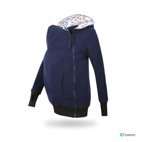 Fun2bemum babywearing fleece jacket Little Bear bluza do noszenia-2 navy