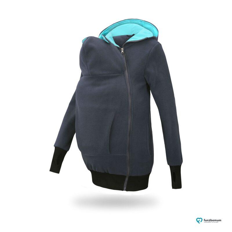 Fun2bemum babywearing fleece jacket Little Bear bluza do noszenia-3 graphite mint