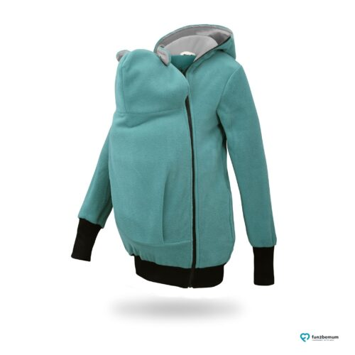 Fun2bemum babywearing fleece jacket Little Bear bluza do noszenia-4 turquoise