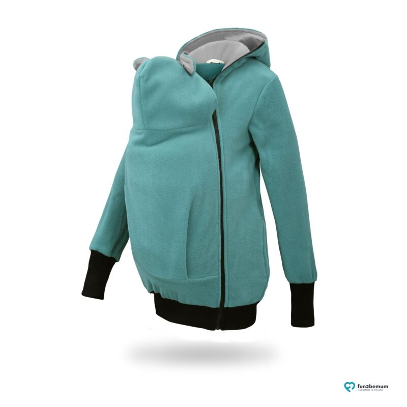 Fun2bemum babywearing fleece jacket Little Bear bluza do noszenia-4 turquoise