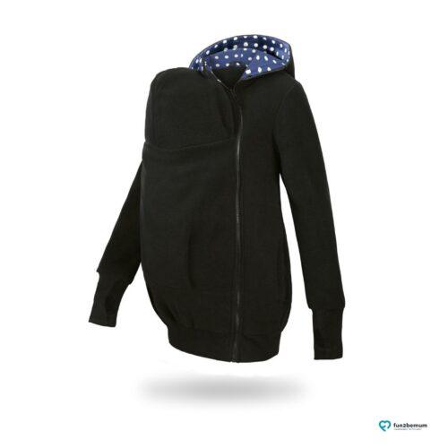 Fun2bemum babywearing fleece jacket Little Bear bluza do noszenia-5 black dots