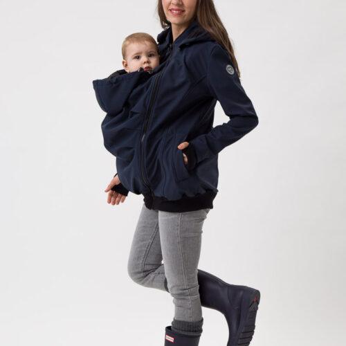 Fun2bemum_babywearing_softshell_jacket_everest_maternity_navy_kurtka_ciazowa_do_noszenia_dzieci_granat 2