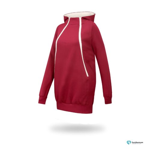 Fun2bemum maternity nursing sweatshirt Roxi ciazowa bluza do karmienia-2 burgundy