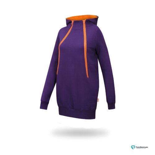 Fun2bemum maternity nursing sweatshirt Roxi ciazowa bluza do karmienia-6 purple orange