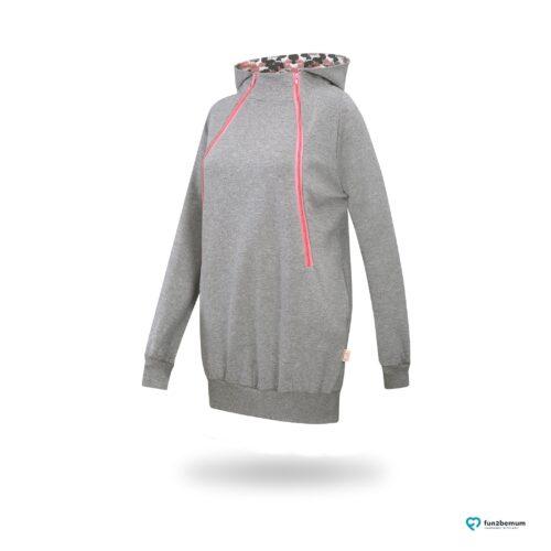 Fun2bemum maternity nursing sweatshirt Roxi ciazowa bluza do karmienia-6 grey butterflies