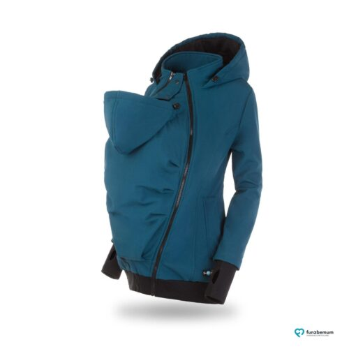 Fun2bemum babywearing softshell jacket Everest do noszenia-4 petrol green front