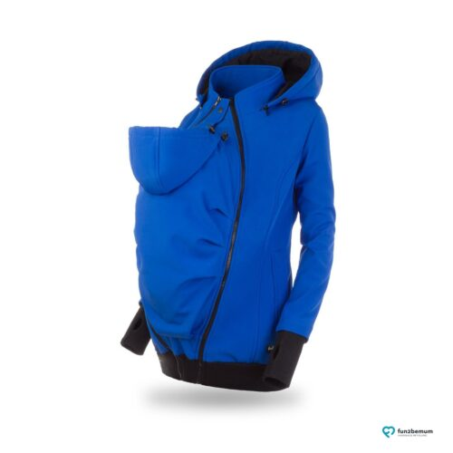 Fun2bemum babywearing softshell jacket Everest do noszenia-4 cornflower front