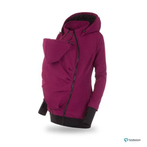 Fun2bemum babywearing softshell jacket Everest do noszenia-4 plum front