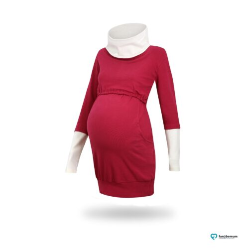 Fun2bemum maternity nursing tunic sweatshirt Olivia tunika ciazowa do karmienia-1 burgund