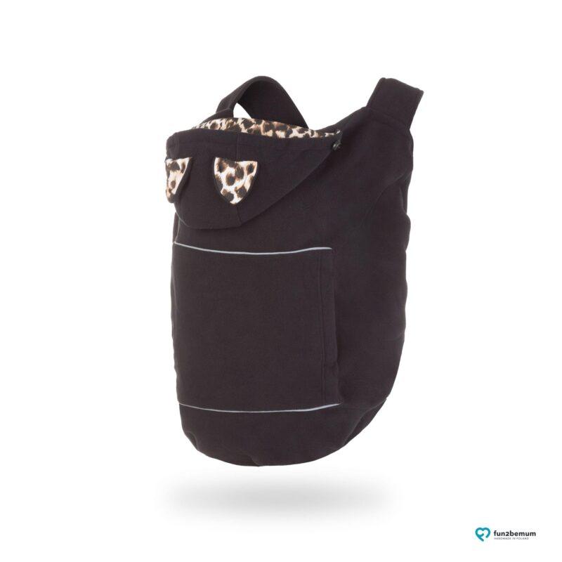 Fun2bemum babywearing fleece cover oslonka ghost (3) - tygrys czarny