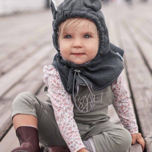 Fun2bemum balaclava for kids baby hat graphite