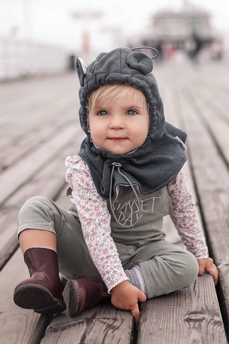Fun2bemum balaclava for kids baby hat graphite