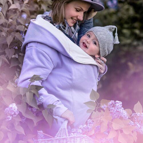 Fun2bemum babywearing coat Kaya płaszcz do noszenia lilac lawenda