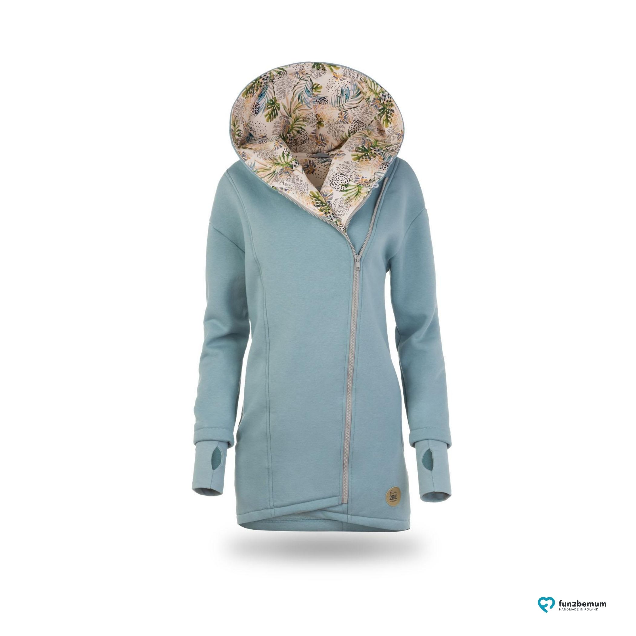 Pregnancy, Maternity Frontback carry Babywearing COAT-HOODIE 4in1 Greyse