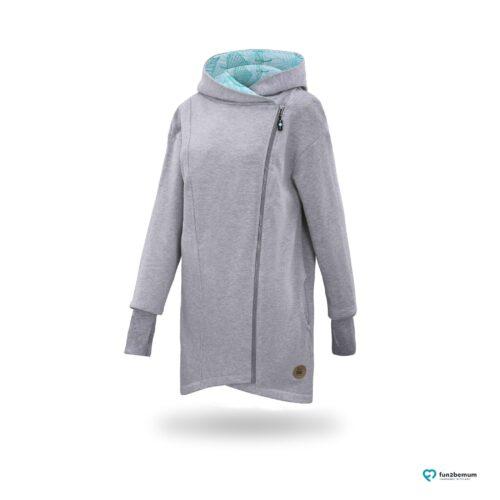 Fun2bemum babywearing coat plaszcz do noszenia ghost - szary (6)