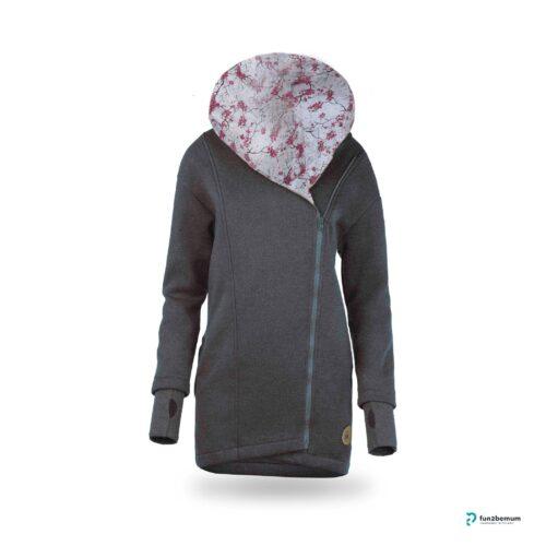 Fun2bemum babywearing coat plaszcz do noszenia ghost (8) - grafitowy