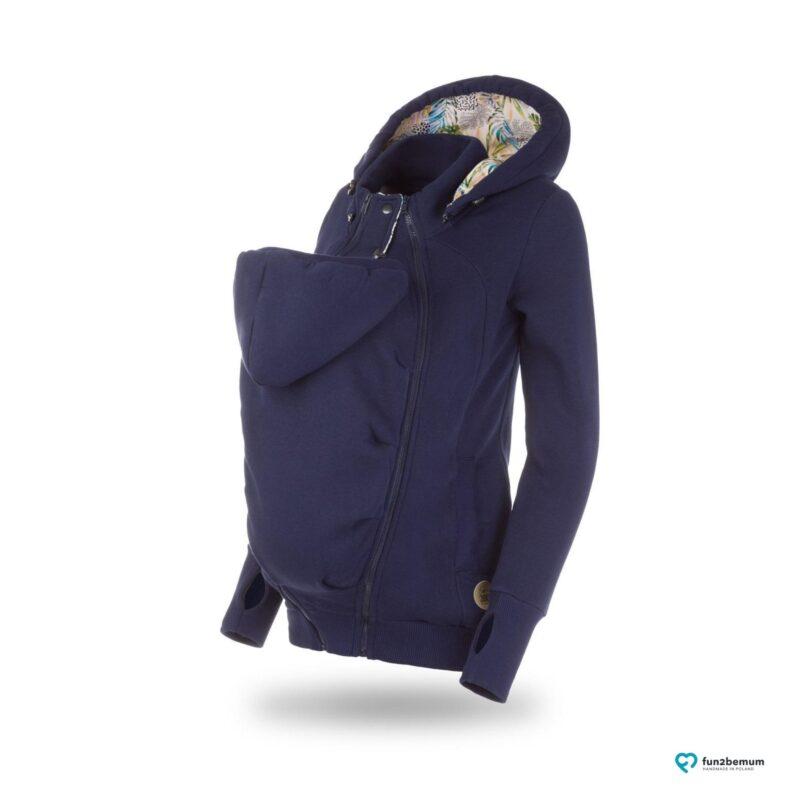 Fun2bemum babywearing sweatshirt bluza pola ghost (1) - granatowa