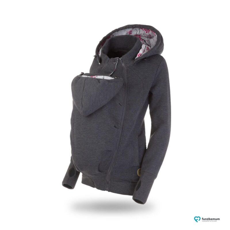 Fun2bemum babywearing sweatshirt bluza pola ghost (4) - grafitowa