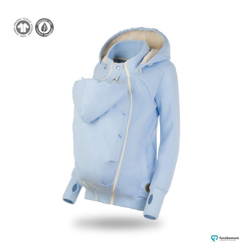 Fun2bemum babywearing sweatshirt bluza pola ghost (7) - baby blue