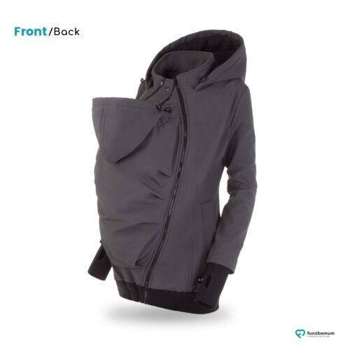 Fun2bemum babywearing softshell jacket Everest do noszenia-4 graphite
