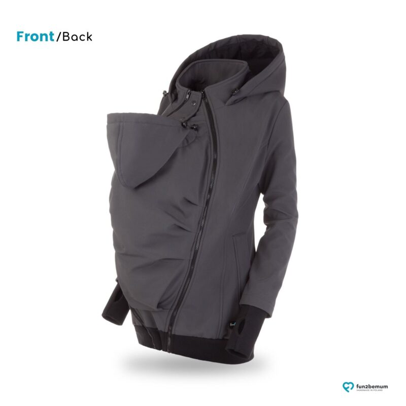 Fun2bemum babywearing softshell jacket Everest do noszenia-4 graphite