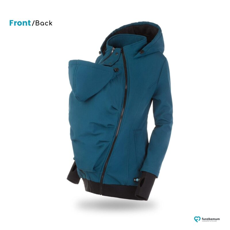 Fun2bemum babywearing softshell jacket Everest do noszenia petrol green