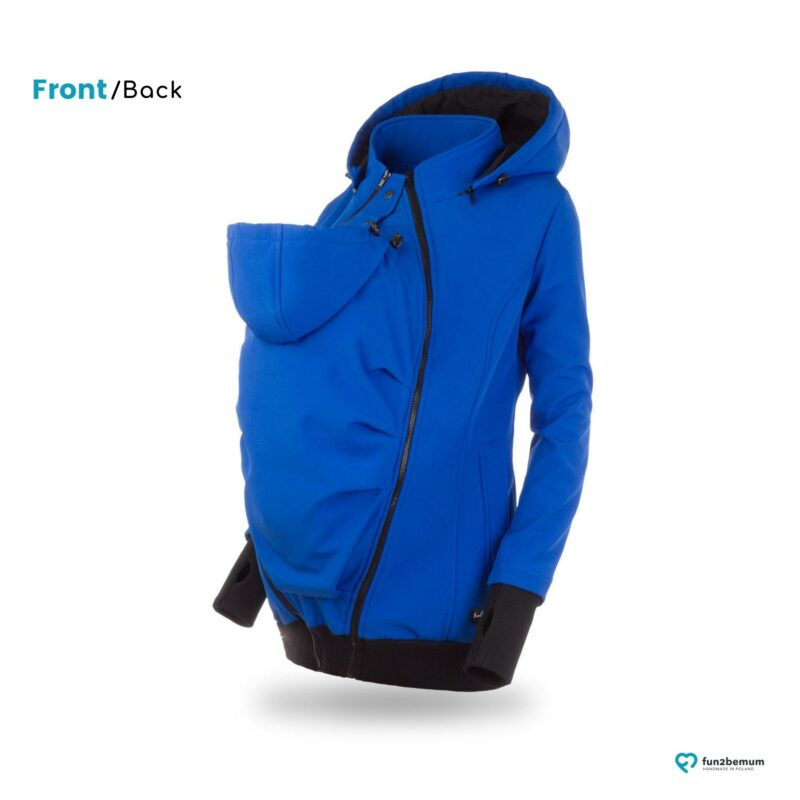 Fun2bemum babywearing softshell jacket Everest do noszenia-4 cornflower blue