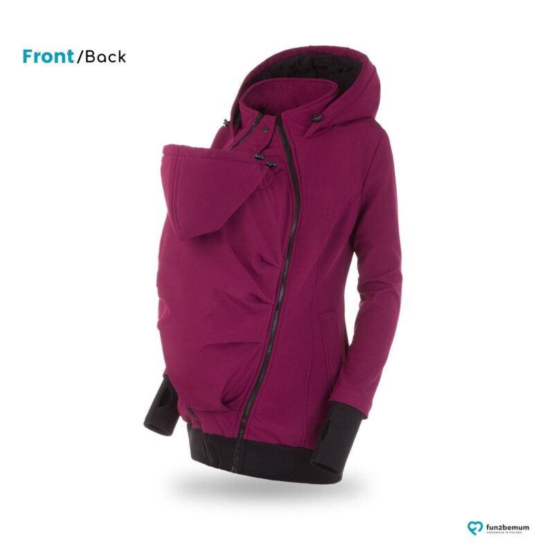 Fun2bemum babywearing softshell jacket Everest do noszenia-4 plum