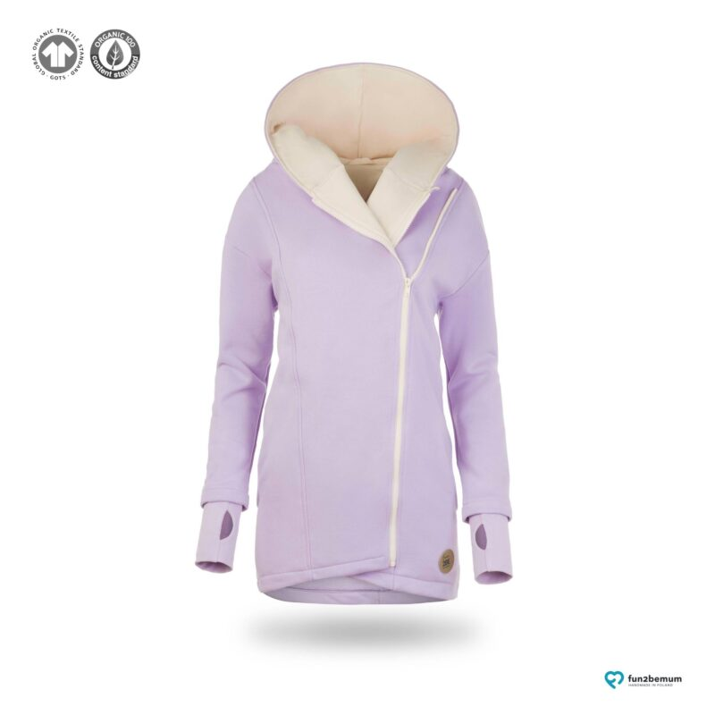 Fun2bemum babywearing coat plaszcz do noszenia ghost (11) - lawenda