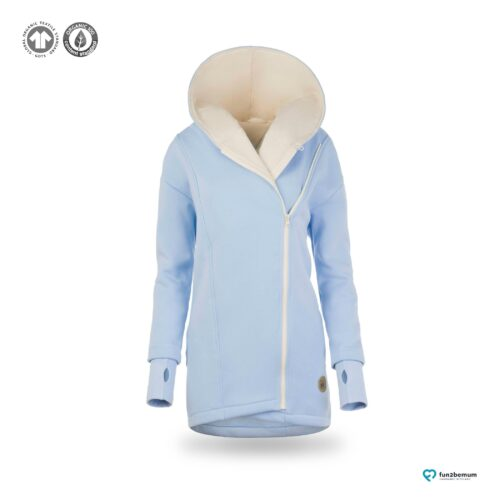 Fun2bemum babywearing coat plaszcz do noszenia ghost (5) - baby blue