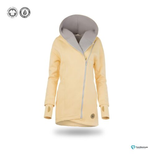 Fun2bemum babywearing coat plaszcz do noszenia ghost (9) - bananowy