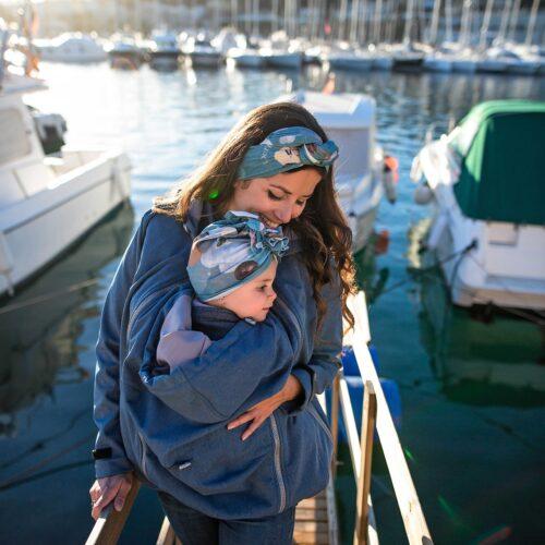 Fun2bemum babywearing jacket Enigma maternity kurtka do noszenia dzieci ciazowa indigo melange 1
