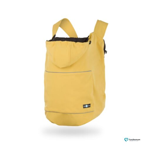Fun2bemum babywearing softshell cover ghost (3) - musztarda