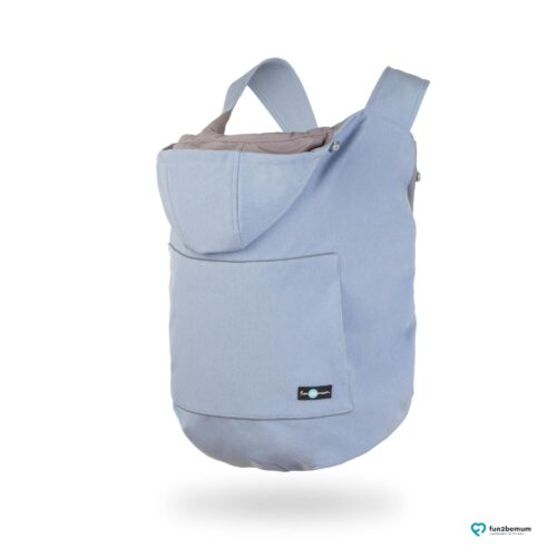 Fun2bemum babywearing softshell cover ghost (8) - baby blue